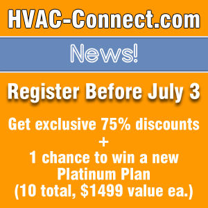 HVACconnect News Register Promotion